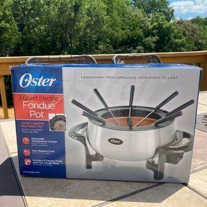 Oster 3qt electric fondue pot non-stick new